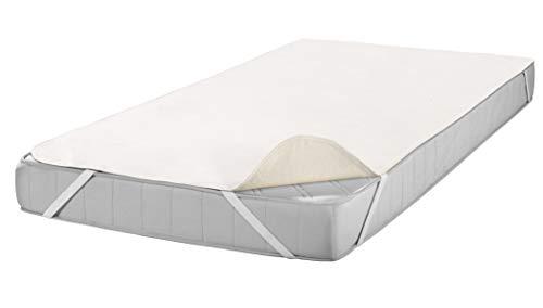 SETEX Molton Matratzenschutz, 90 x 200 cm, Eckgummis, 100 % Baumwolle, Basic, Naturfarben 1607090200001001
