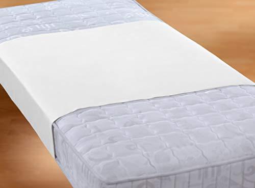 biberna Sleep & Protect 0809840 Stecklaken Molton mit Silver Protect Ausrüstung (blut-, urin- und wasserundurchlässig), antibakteriell) 1x 90x160 cm weiß