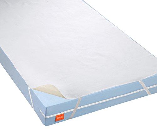 sleepling 191166 wasserundurchlässige Molton Matratzenauflage Inkontinenzauflage mit atmungsaktiver Beschichtung, 95 Grad Kochfest, Made in Germany 90 x 190 cm bis 100 x 200 cm, weiß
