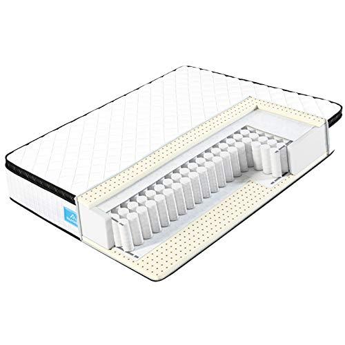 Matratze 90x200x27 cm, 7-Zonen Taschenfederkernmatratzen - Atmungsaktiv mit 3D-Memory Schaum H4, Optimale Unterstützung von Lenden- und Beckenbereich, Öko-Tex Zertifiziert