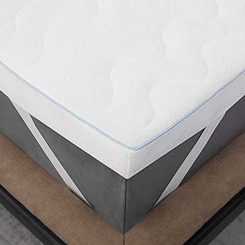 Bedsure Matratzentopper 140x200 Matratzen Topper - 7cm Höhe Topper 140 200cm mit 2 in 1 Memory Foam, orthopädische Matratzentopper 140x200cm für eine weiche, Feste und entlastende Unterstützung