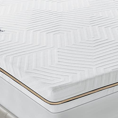 BedStory 7,6cm Memory Foam Topper, Matratzen-Topper in 4 Fusion (Gel+Bambus+Grüner Tee+Kupferion), Matratzenauflage mit waschbarem Bezug, bequemer Topper für Matratzen & (140 x 200 cm)