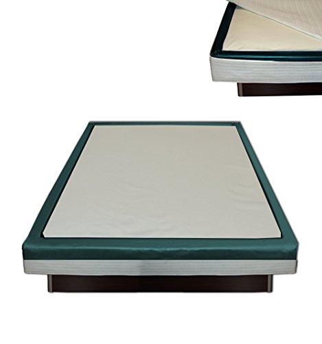 Orthopädischer Visco Softside Wasserbett Viscotopper für 180 x 200 cm x 2 cm mit Piqué-Bezug 165 x 185 x 2 cm