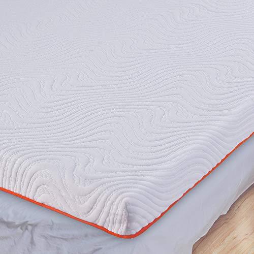 Matratzen Topper 180 x 200, 7 cm Höhe Gel Memory Foam Matratzentopper 2 in 1 Viscoelastischer Mattress Topper für Bett Schlafsofa Boxspringbett RG 50