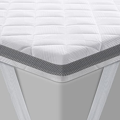 BedStory Topper 160x200 cm, Gel Topper mit Kaltschaumkern und Abnehmbarer Waschbarer Bezug, 7.5 cm Höhe Atmungsaktive und Bequeme Matratzentopper für Boxspringbett und Unbequemem Betten