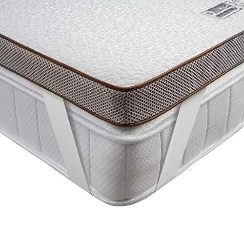 BedStory Matratzentopper 180 x 200 cm , 7,5cm Höhe Gel Topper mit Abnehmbarem und Waschbarem Bezug, Atmungsaktive und Bequeme Matratzenauflage für Boxspringbett und Unbequeme Betten Schlafsofa