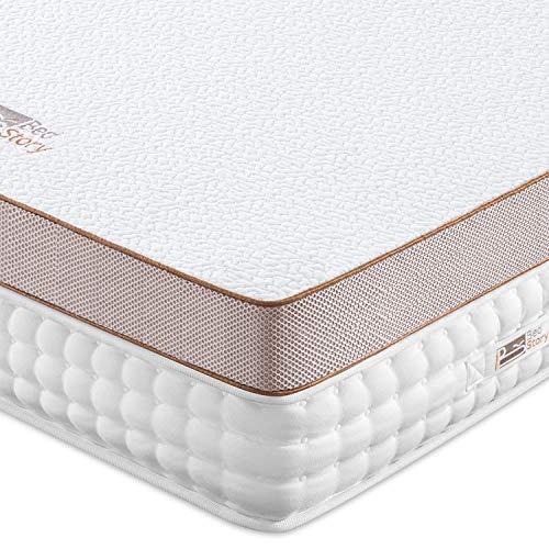 BedStory 7.6cm Gel Memory Foam Topper 90x200 Matratzentopper, Visco-Gelschaum Matratzenauflage für unbequemem Betten/Boxspringbett unbequemes Schlafsofa